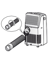Installing air conditioning units without any external step1